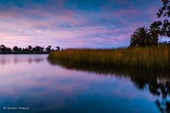 Lake Miramar in golden hour by Sarjen Haque